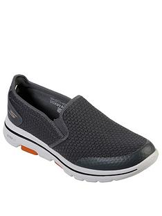 skechers-gowalk-5-slip-on-trainers-charcoal