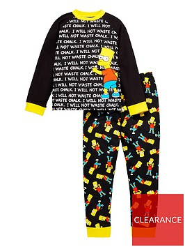 the-simpsons-boysnbspbart-chalkboard-pjs-multi