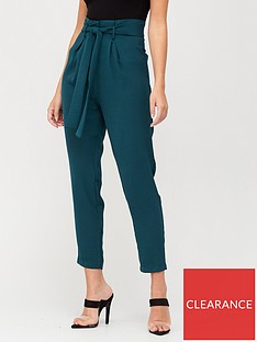 v-by-very-paperbag-tie-waist-trousers-green