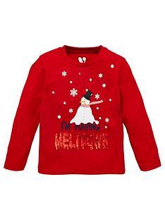 mini-v-by-very-unisex-christmas-reversiblenbspsequin-meltdown-snowman-long-sleeve-t-shirt-burgundy