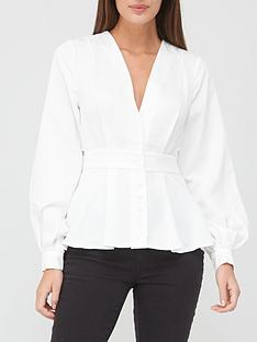 v-by-very-button-through-back-detail-blouse-ivory