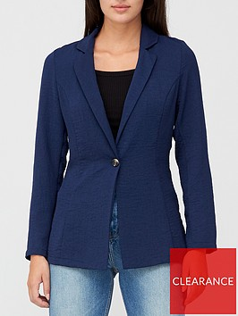 v-by-very-soft-tailored-blazer-navy