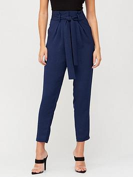 v-by-very-paperbag-tie-waist-trousers-navy