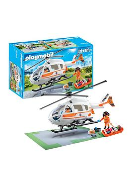 playmobil-playmobil-70048-city-life-hospital-emergency-helicopter-with-landing-pad