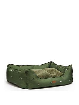 joules-bee-print-box-pet-bed