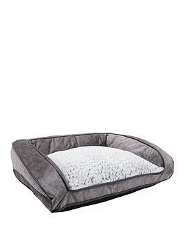 Rosewood Grey Luxury Plush Sofa 84Cm - Large