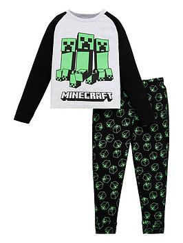 minecraft-boys-minecraft-raglan-sleeve-creeper-pjs-grey