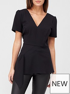 v-by-very-asymmetric-structured-blouse-black