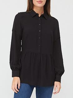 v-by-very-ladder-trim-shirt-black