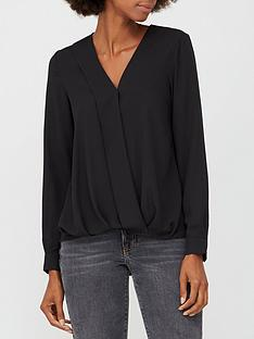 v-by-very-wrap-long-sleeve-blouse-black