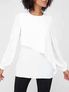 v-by-very-asymmetric-frill-blouse-ivory