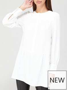 v-by-very-pintuck-tiered-tunic-ivory