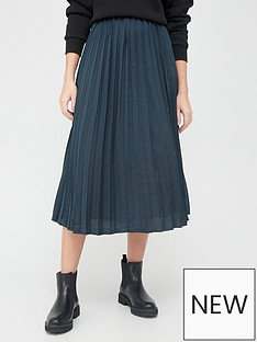 v-by-very-satin-pleated-skirt-navy