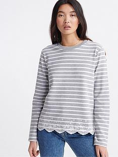 superdry-summer-schiffli-top-grey