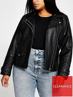 ri-plus-pu-biker-jacket-black