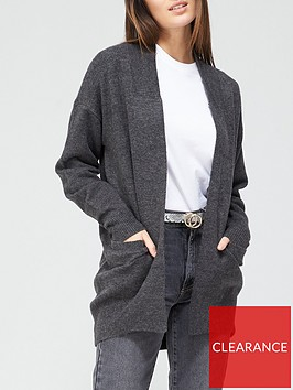 v-by-very-longline-pointelle-cardigan-charcoal