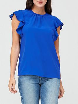 v-by-very-round-neck-short-sleevenbspshell-top-blue