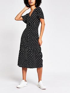 river-island-spot-print-midi-dress-black-spot