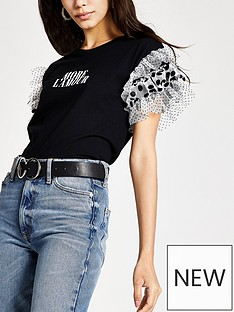 river-island-more-lamour-spot-mix-frill-t-shirt-black