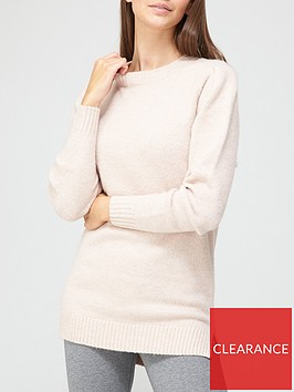 v-by-very-dropped-hem-cosy-knitted-longlinenbspjumper-dusty-pink