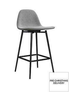 calvin-velvet-bar-stool--grey