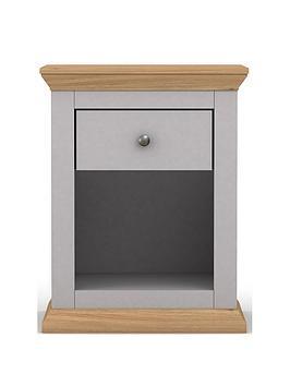 New Burford Lamp Table - Grey/Oak Effect