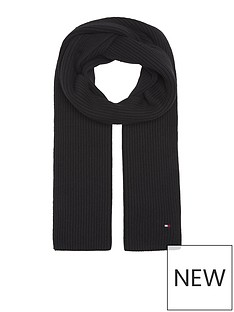 tommy-hilfiger-pima-cotton-knitted-scarf-black