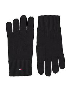 tommy-hilfiger-pima-cotton-knitted-gloves-black