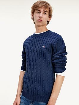 tommy-jeans-tjm-essential-cable-sweater-navy