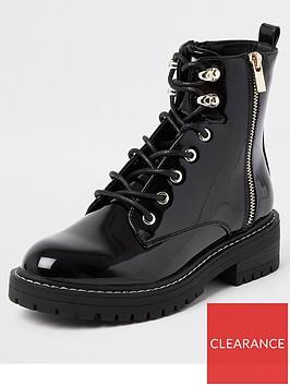 river-island-patent-lace-up-biker-boot-black