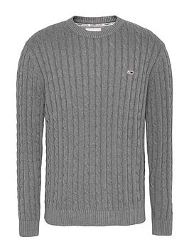 tommy-jeans-tjm-essential-cable-sweater-grey