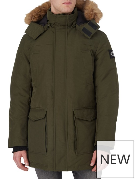 Calvin Klein Jeans Faux Fur Trimmed Down Parka £175 (Save £75) at Very.co.uk