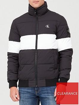 calvin-klein-jeans-outline-logo-padded-jacket-black