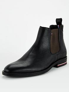 tommy-hilfiger-signature-leather-chelsea-boots-black