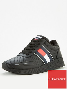 tommy-hilfiger-flexi-perforated-leather-runner-trainers-blacknbsp
