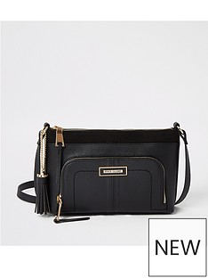 river-island-front-pocket-cross-body-bag-black