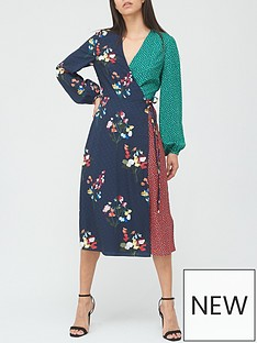 ted-baker-peppermint-mash-up-wrap-dress-navy