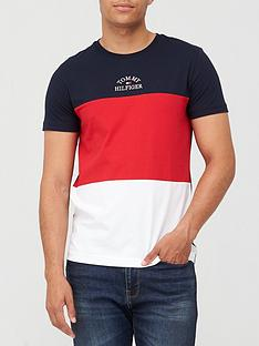 tommy-hilfiger-colour-block-t-shirt-navyredwhite