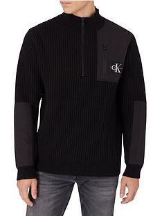 calvin-klein-jeans-utility-14-zipnbspsweat-top-black
