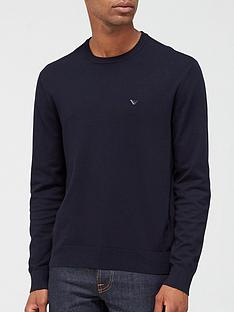 emporio-armani-knitted-logo-jumper-navy