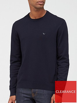 emporio-armani-knitted-logo-jumper-navy