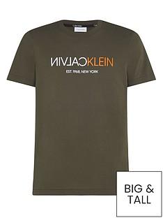 calvin-klein-text-reverse-logo-t-shirt-dark-olive