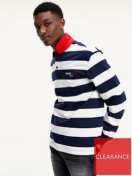 tommy-jeans-tjmnbsp-long-sleeve-stripe-polo-shirt-navywhitenbsp