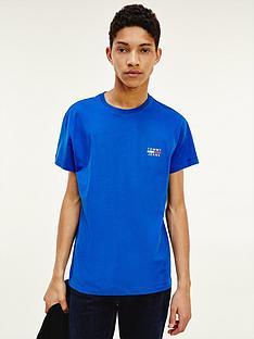tommy-jeans-tjmnbspchest-logo-t-shirt-bluenbsp