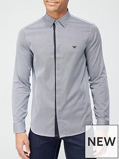 emporio-armani-geo-print-slim-fit-shirt-grey