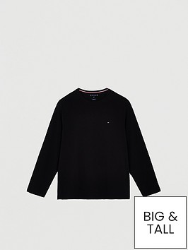 tommy-hilfiger-stretch-slim-fit-long-sleeve-t-shirt-black