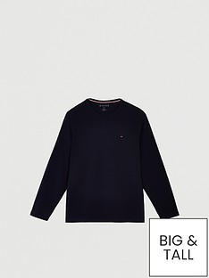 tommy-hilfiger-stretch-slim-fit-long-sleeve-t-shirt-navy