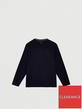 tommy-hilfiger-stretch-slim-fit-long-sleeve-t-shirt-navy