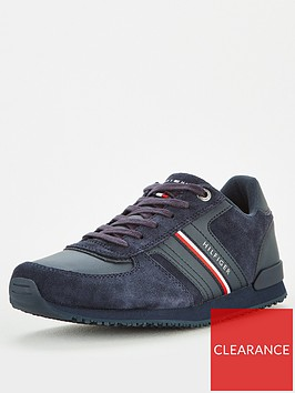 tommy-hilfiger-icon-mix-suede-runner-trainers-navynbsp