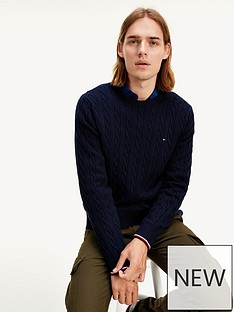 tommy-hilfiger-organic-cotton-cable-knitted-jumper-navy